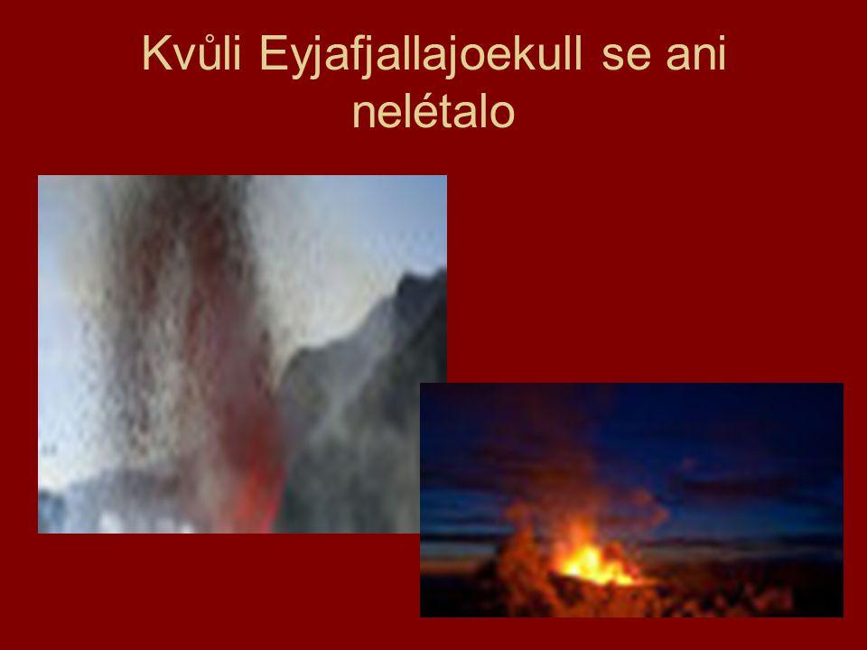 Kvůli Eyjafjallajoekull se ani nelétalo
