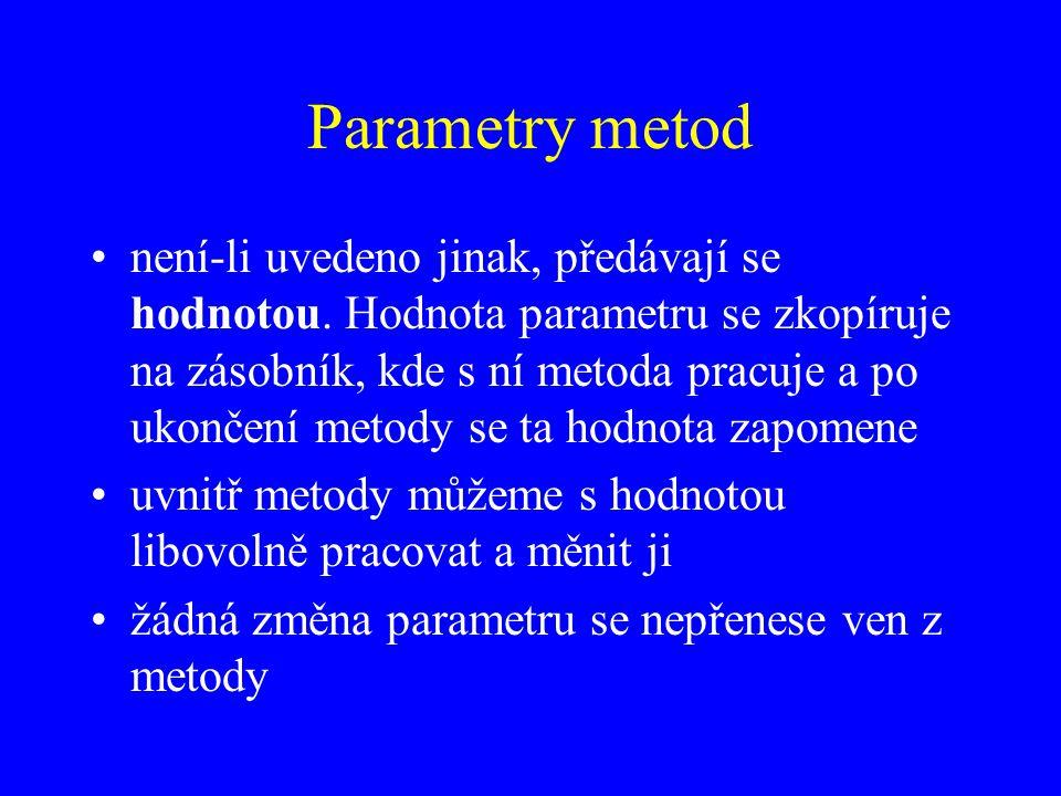 Parametry metod