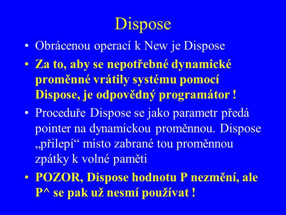 Dispose Obrácenou operací k New je Dispose