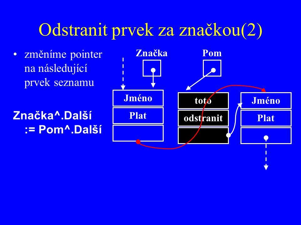 Odstranit prvek za značkou(2)