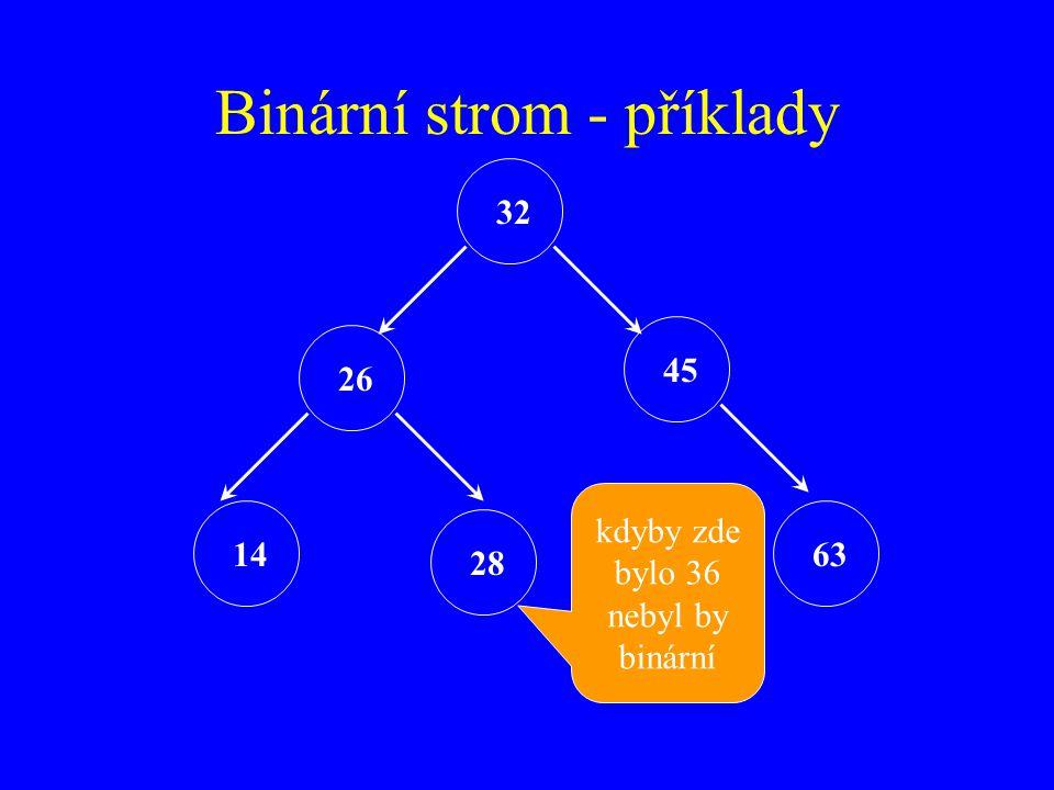 Binární strom - příklady
