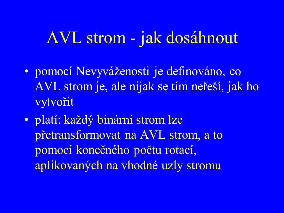 AVL strom - jak dosáhnout