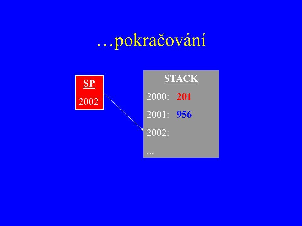 …pokračování STACK 2000: 201 2001: 956 2002: ... SP 2002