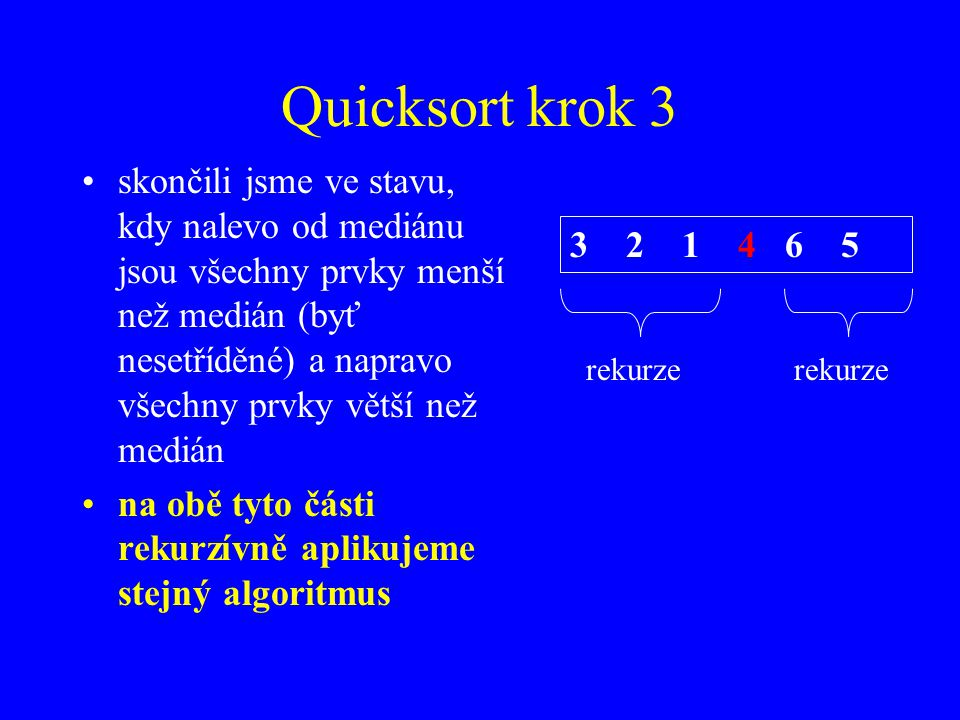 Quicksort krok 3