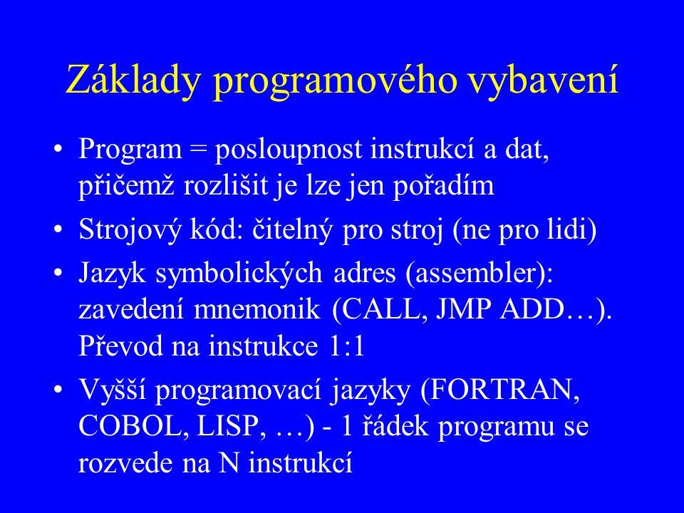 Základy programového vybavení