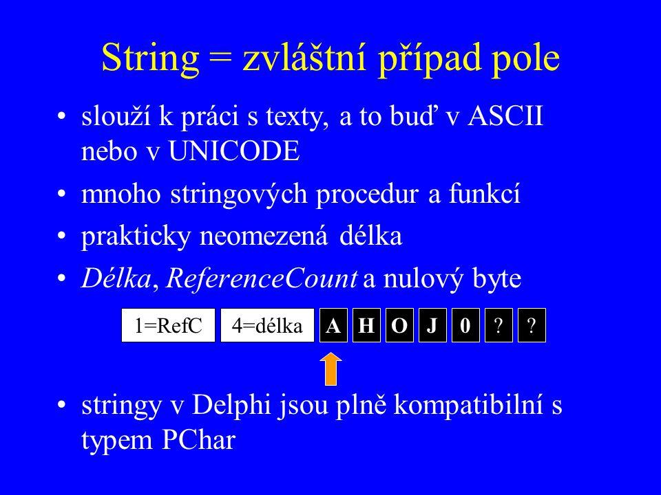 String = zvláštní případ pole