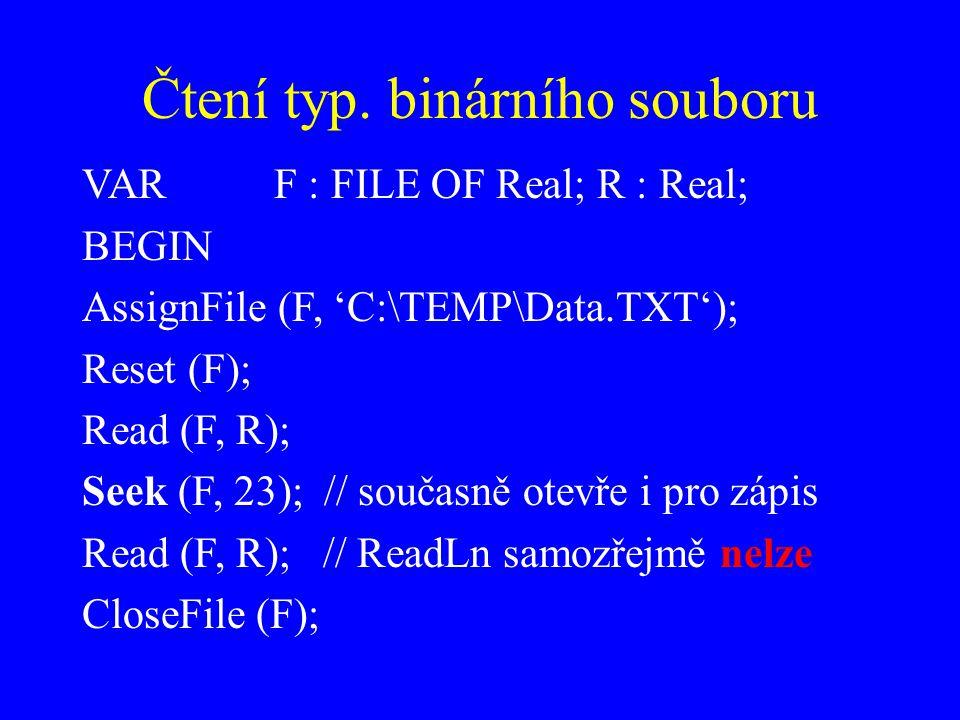 Čtení typ. binárního souboru