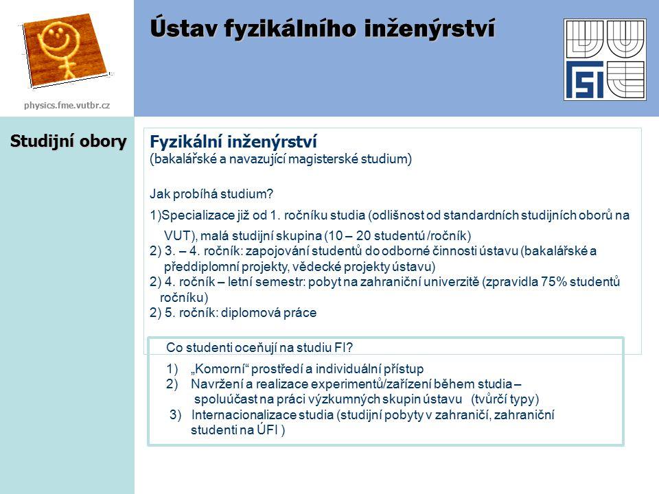 Ústav fyzikálního inženýrství Ústav fyzikálního inženýrství