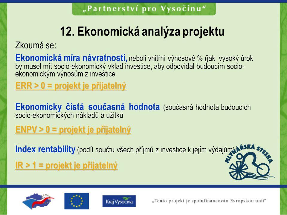 12. Ekonomická analýza projektu