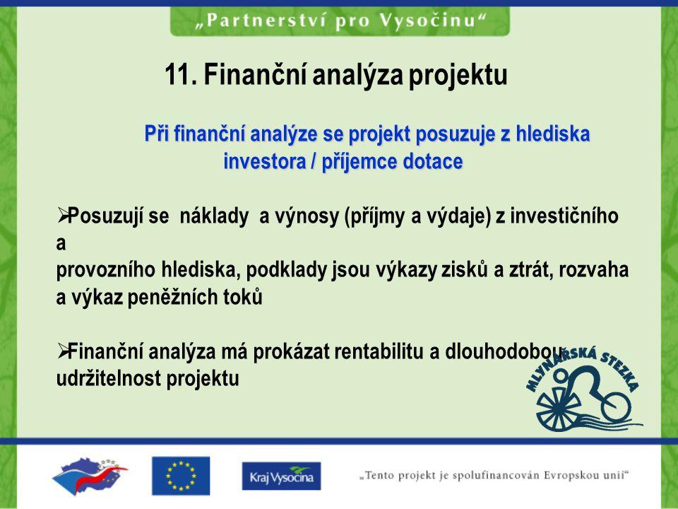 11. Finanční analýza projektu