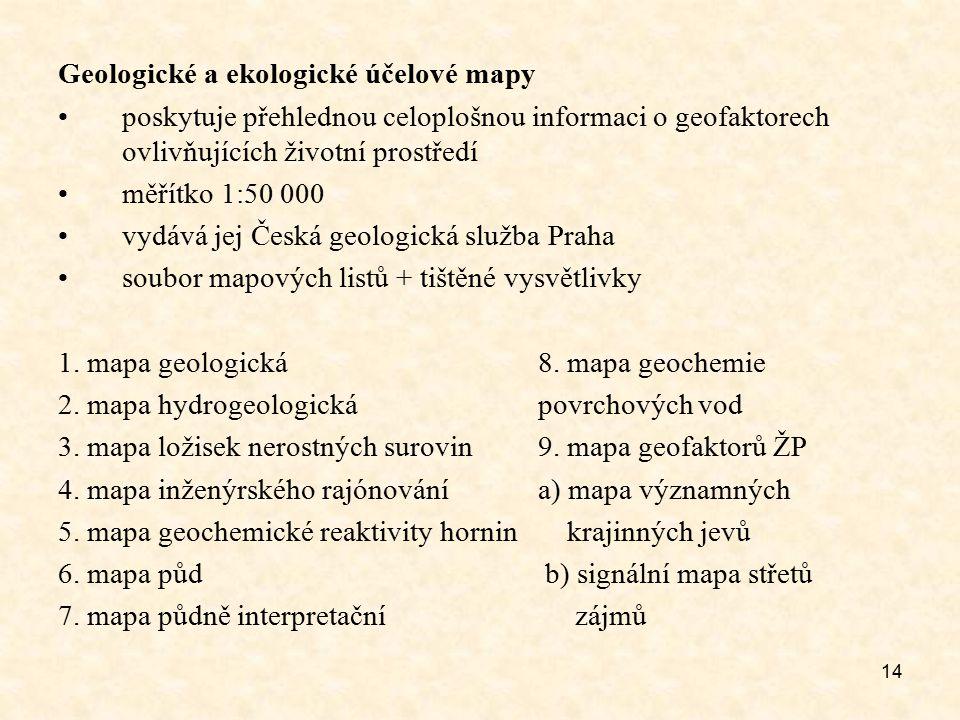 Geologické a ekologické účelové mapy