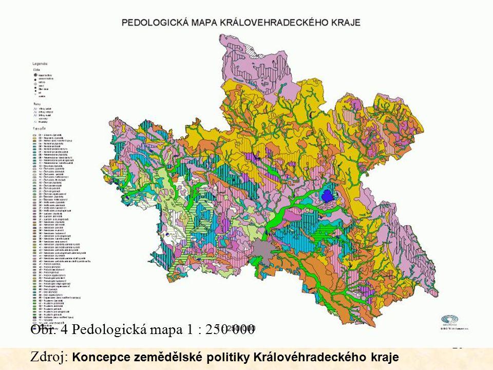 Obr. 4 Pedologická mapa 1 : 250 000 Zdroj: Koncepce zemědělské politiky Královéhradeckého kraje