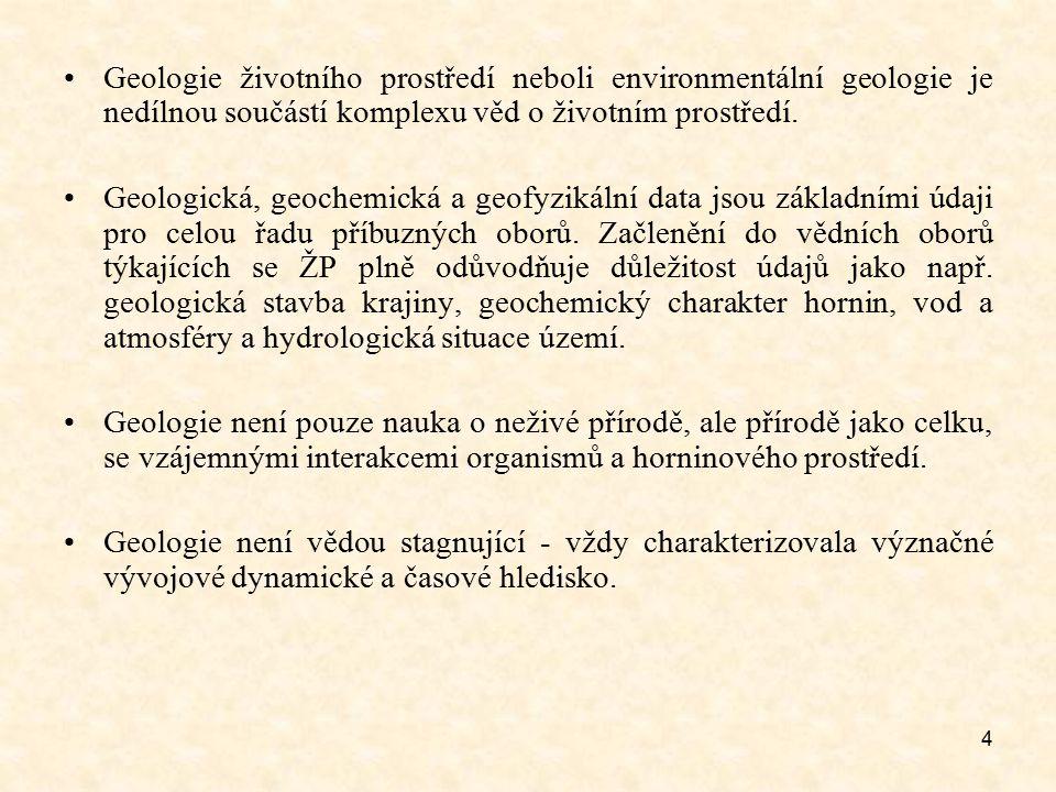 Geologie životního prostředí neboli environmentální geologie je nedílnou součástí komplexu věd o životním prostředí.