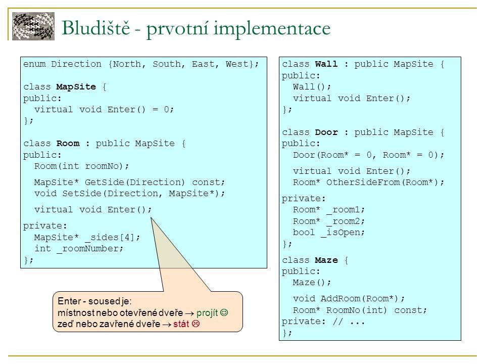 Bludiště - prvotní implementace