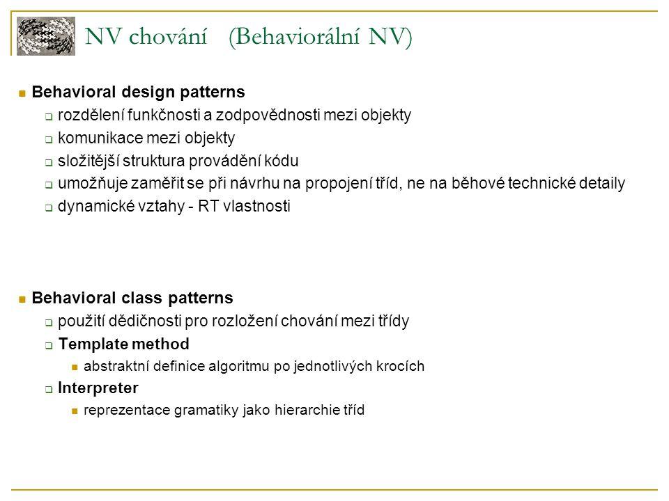 NV chování (Behaviorální NV)