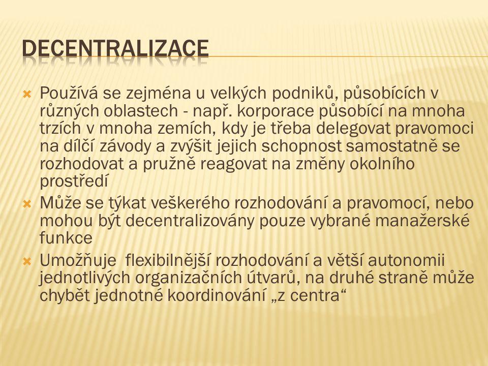 decentralizace
