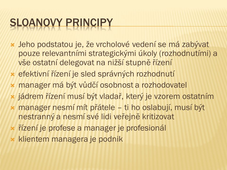 Sloanovy principy