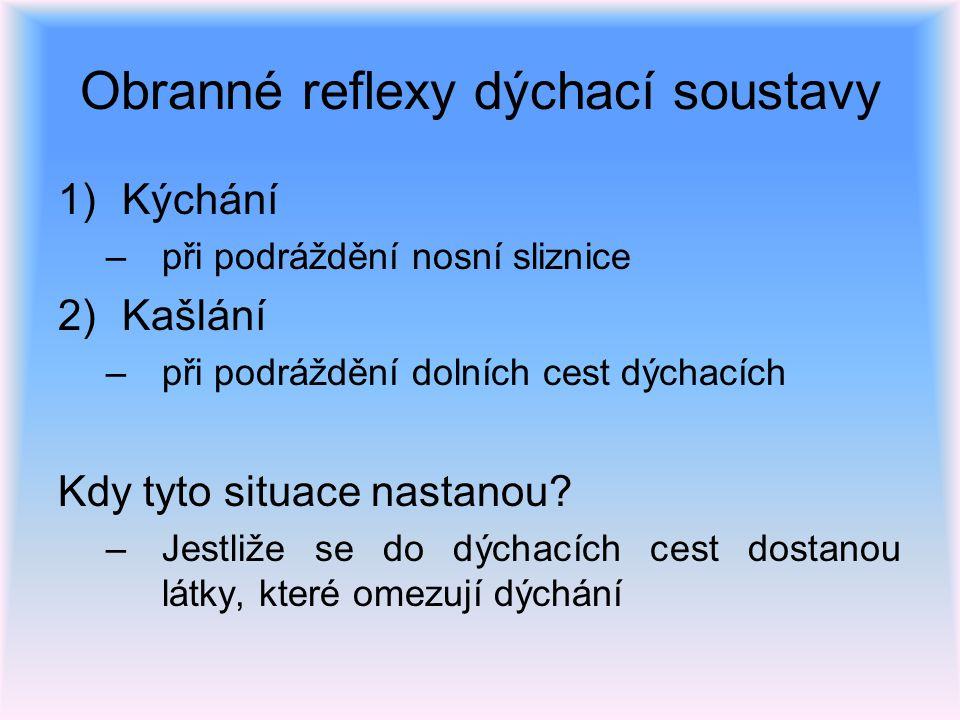 Obranné reflexy dýchací soustavy