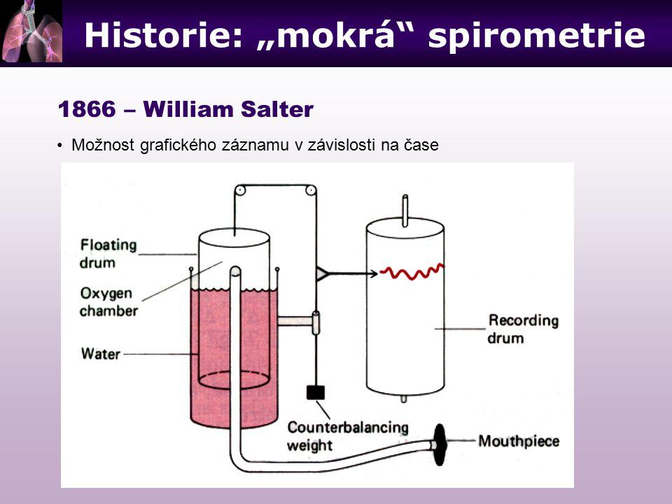 """Historie: """"mokrá spirometrie"""