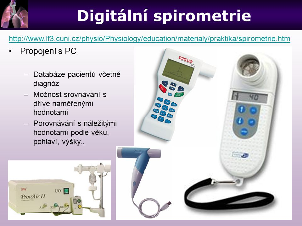 Digitální spirometrie