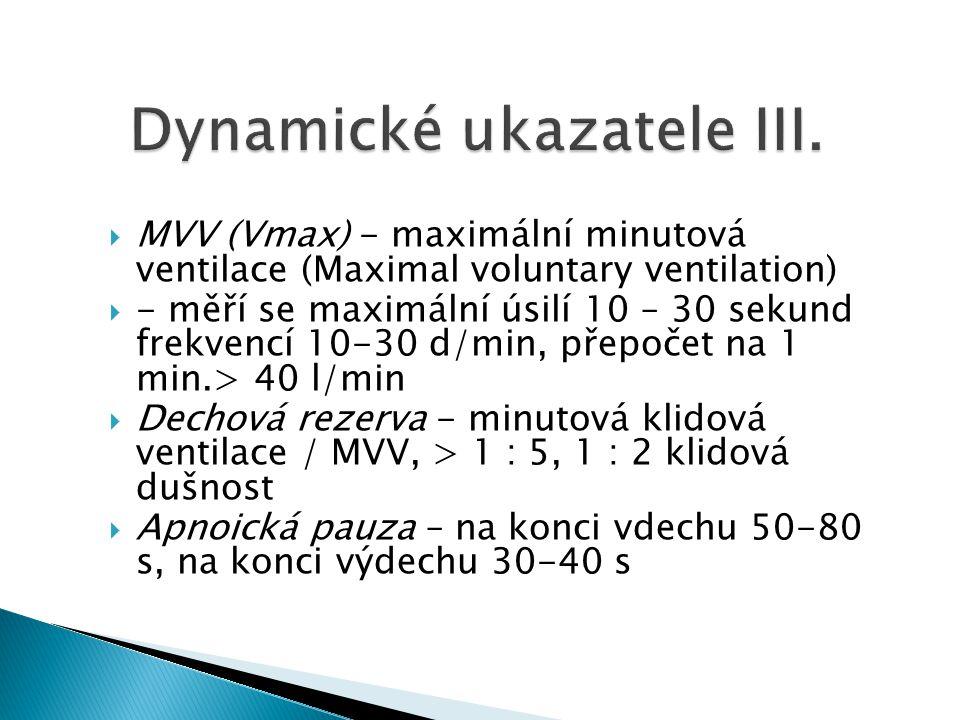 Dynamické ukazatele III.
