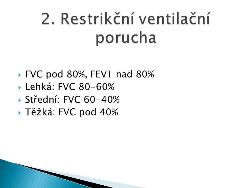 2. Restrikční ventilační porucha