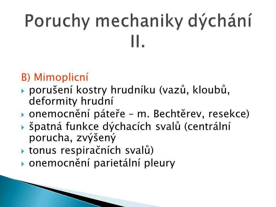 Poruchy mechaniky dýchání II.