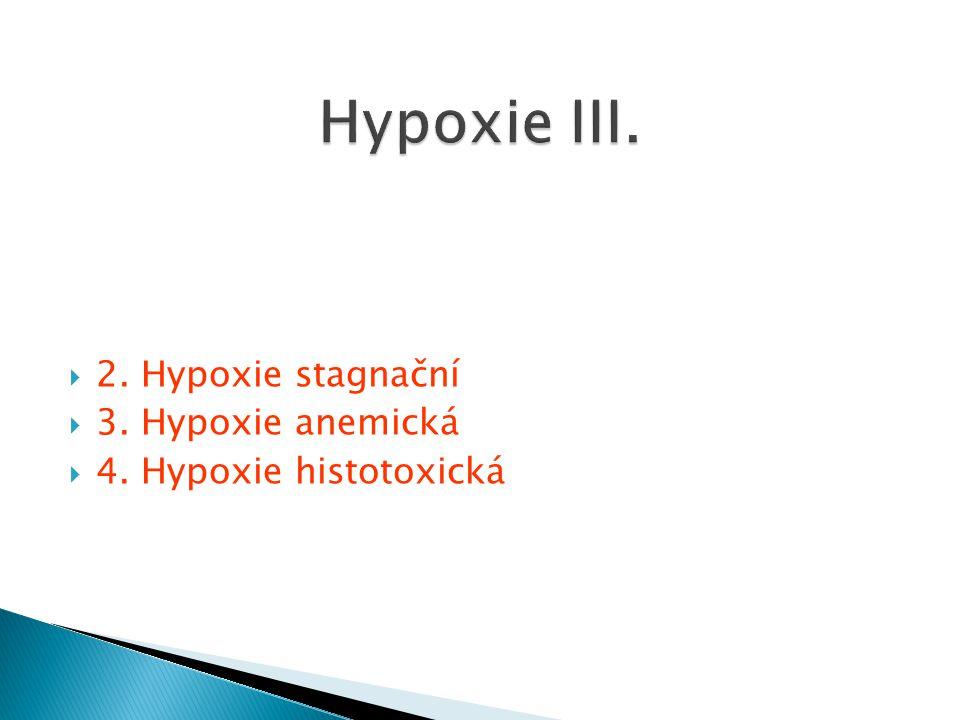 Hypoxie III. 2. Hypoxie stagnační 3. Hypoxie anemická