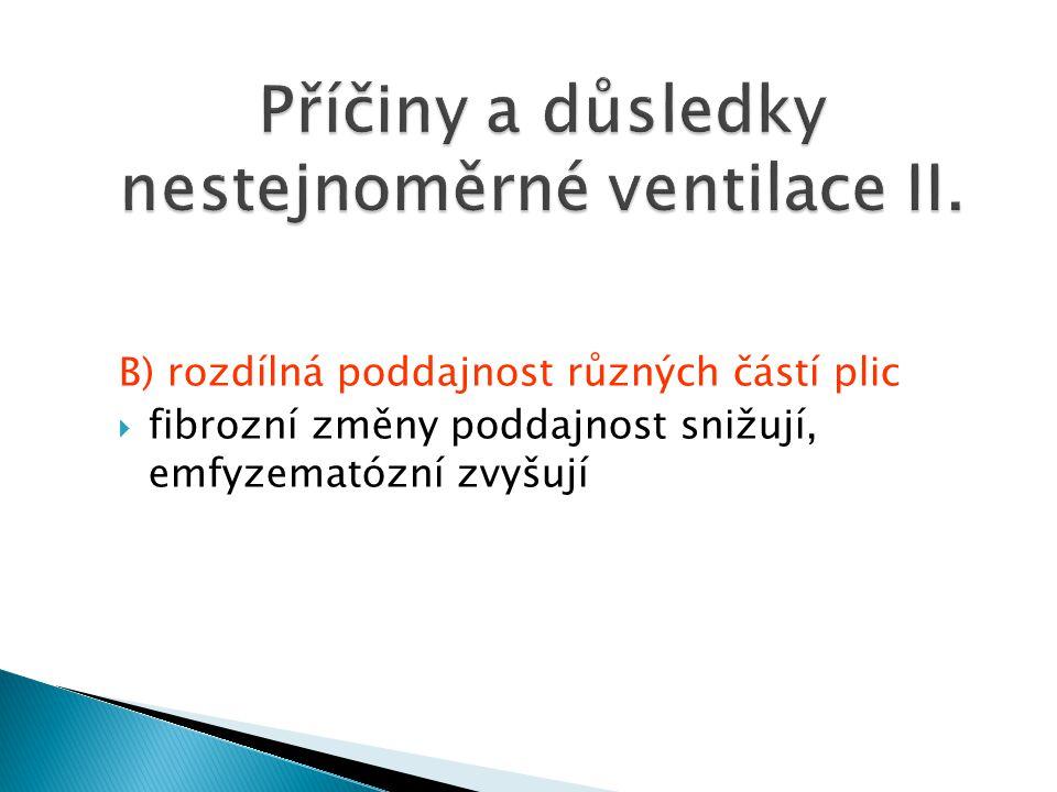 Příčiny a důsledky nestejnoměrné ventilace II.