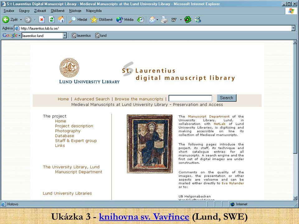 Ukázka 3 - knihovna sv. Vavřince (Lund, SWE)