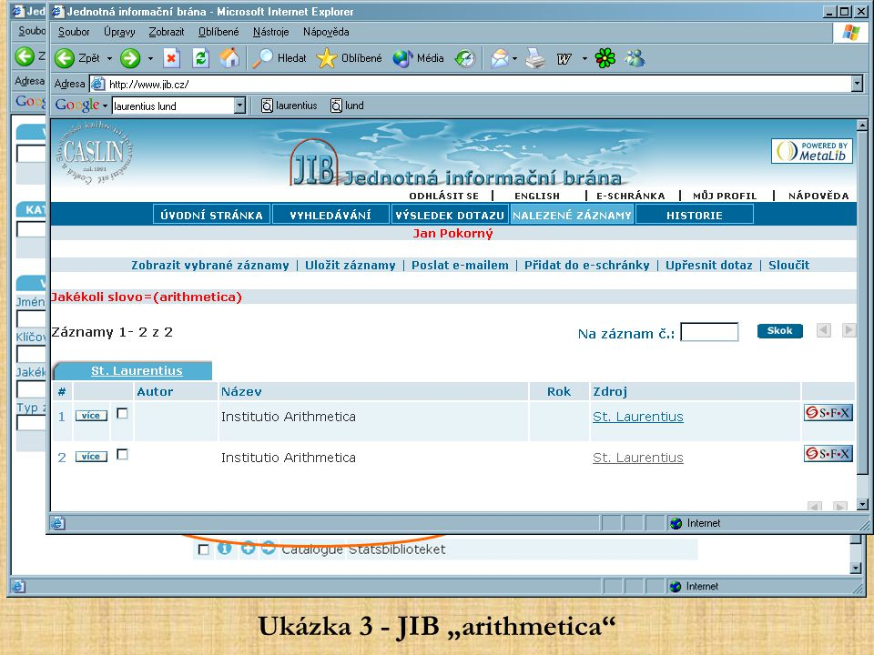 """Ukázka 3 - JIB """"arithmetica"""