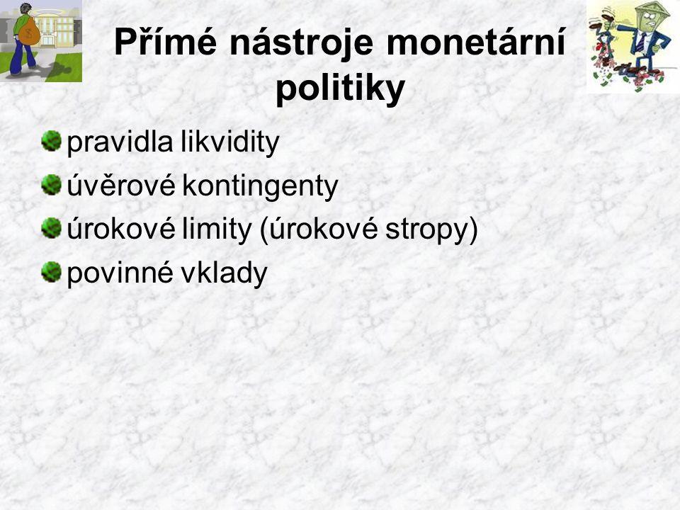Přímé nástroje monetární politiky