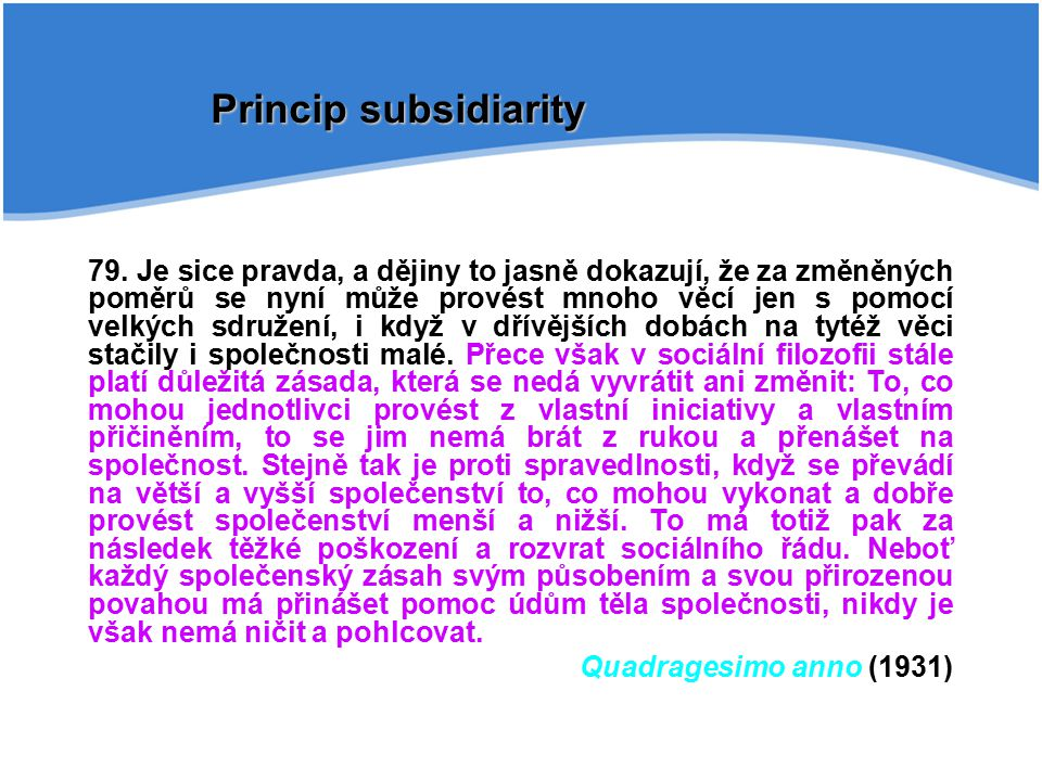 Princip subsidiarity