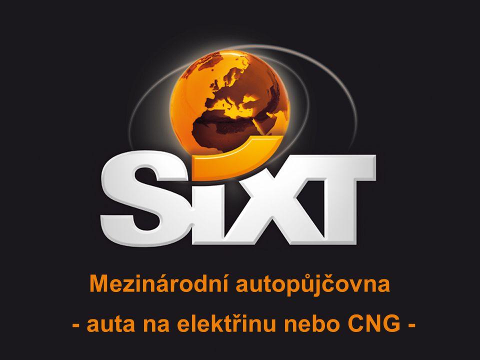 Mezinárodní autopůjčovna - auta na elektřinu nebo CNG -