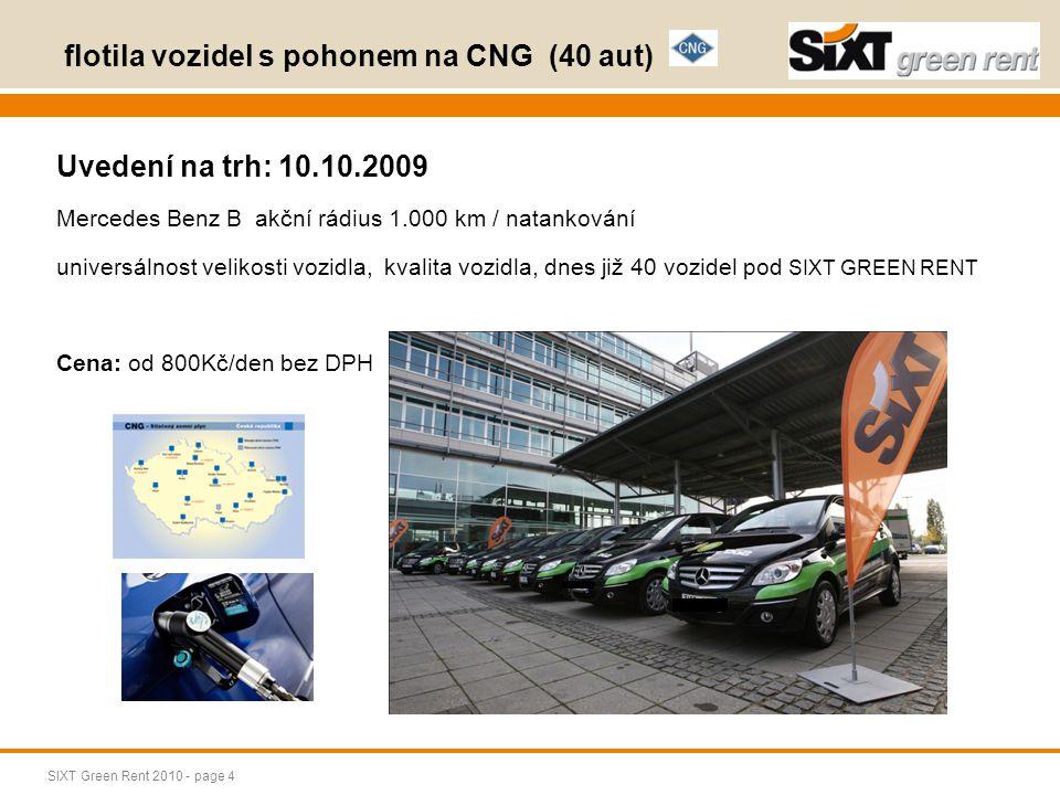 flotila vozidel s pohonem na CNG (40 aut)