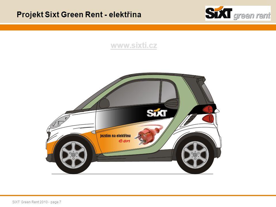 Projekt Sixt Green Rent - elektřina