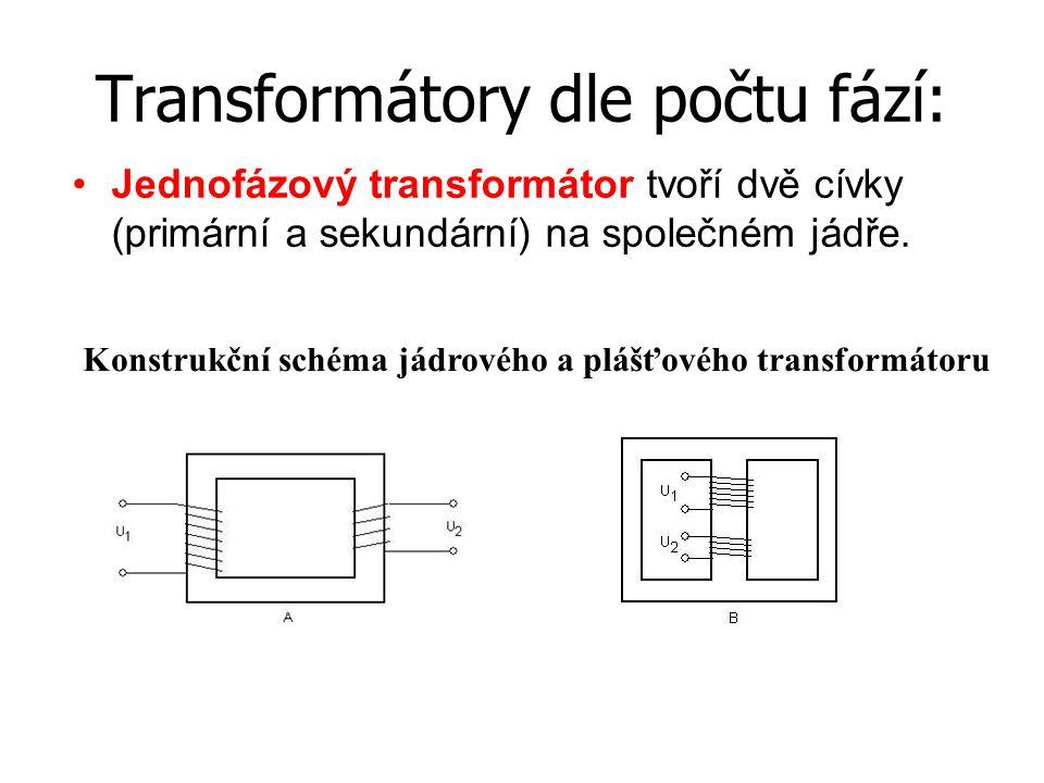 Transformátory dle počtu fází: