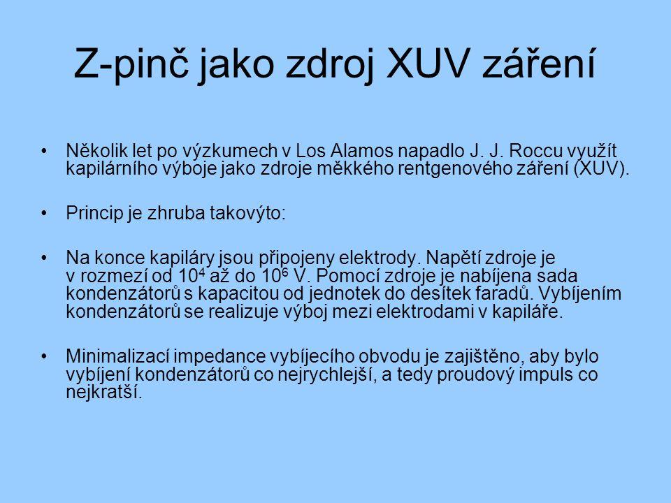 Z-pinč jako zdroj XUV záření