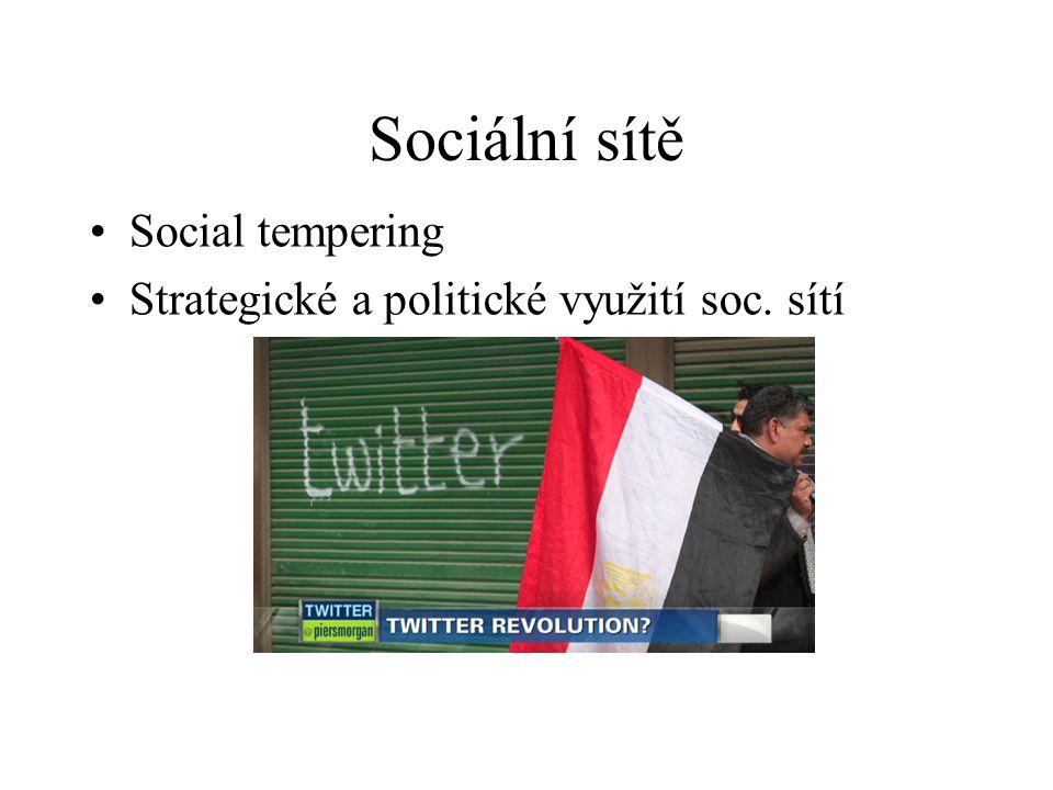 Sociální sítě Social tempering