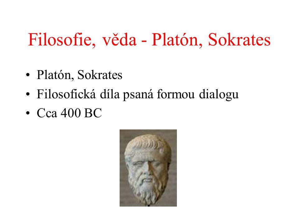 Filosofie, věda - Platón, Sokrates