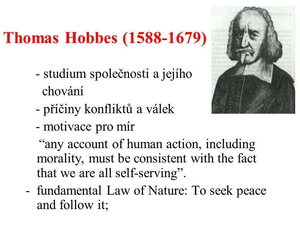 Thomas Hobbes (1588-1679) - studium společnosti a jejího chování