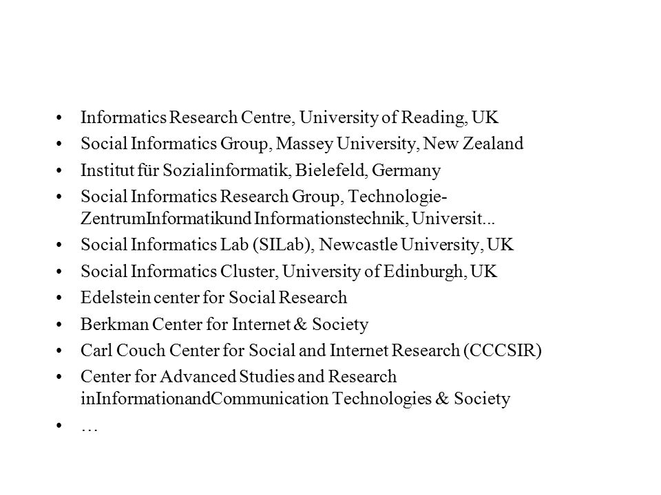 Informatics Research Centre, University of Reading, UK