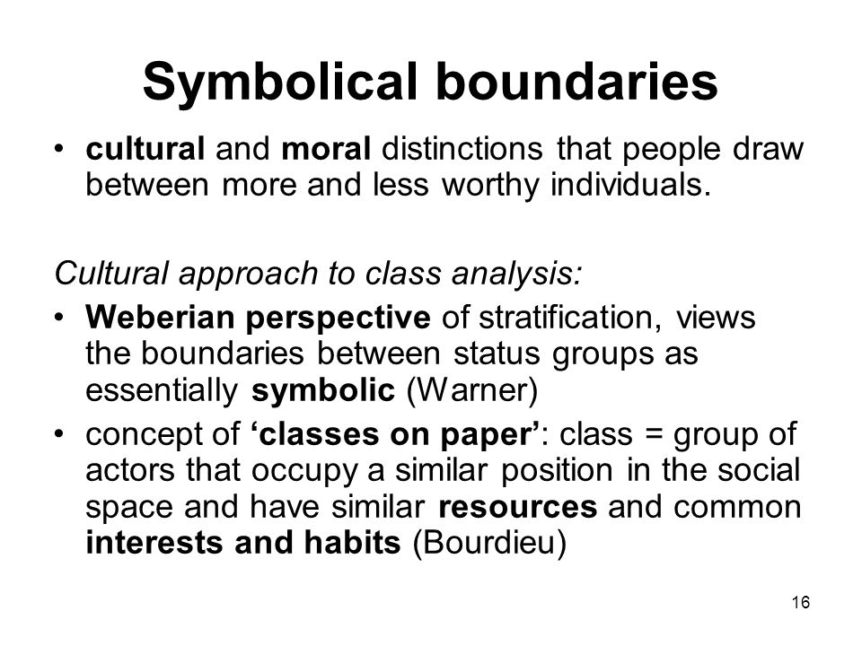 Symbolical boundaries