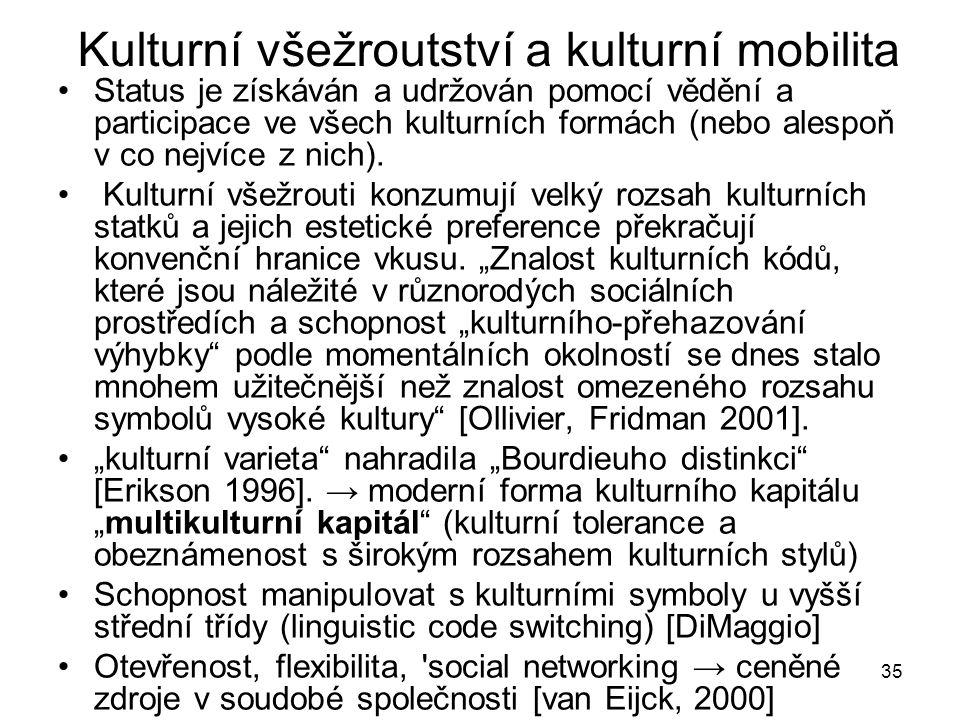 Kulturní všežroutství a kulturní mobilita