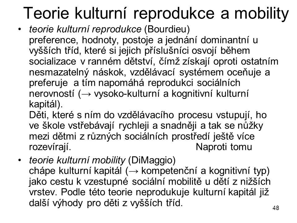 Teorie kulturní reprodukce a mobility