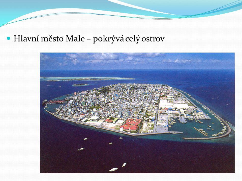 Hlavní město Male – pokrývá celý ostrov