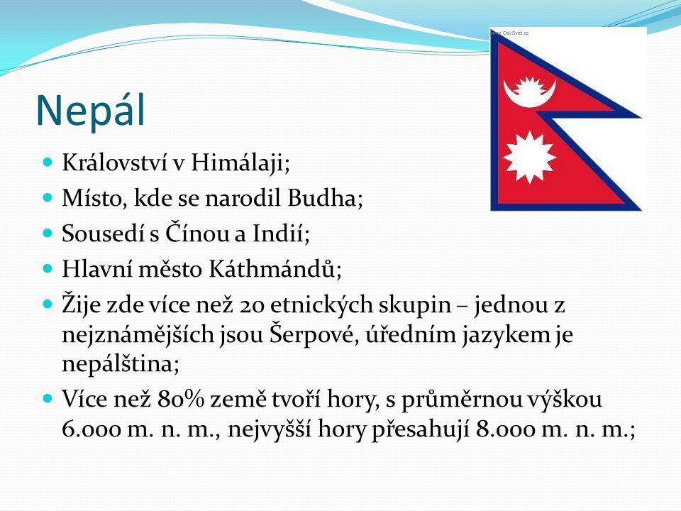 Nepál Království v Himálaji; Místo, kde se narodil Budha;