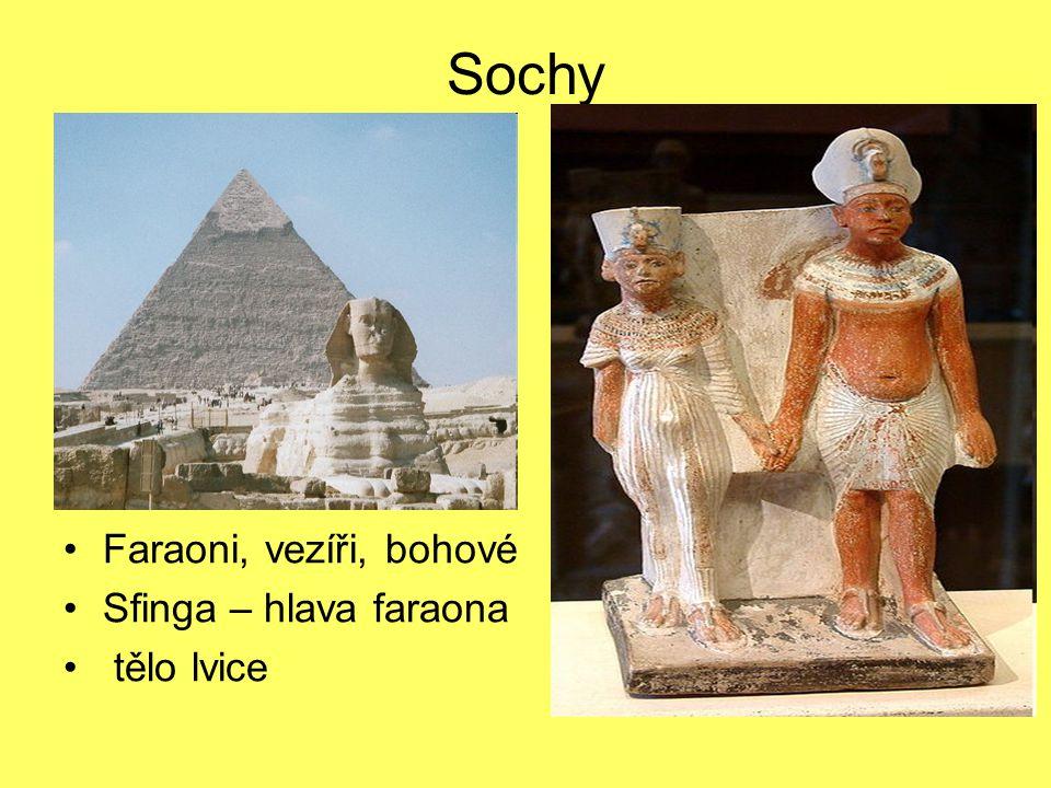Sochy Faraoni, vezíři, bohové Sfinga – hlava faraona tělo lvice