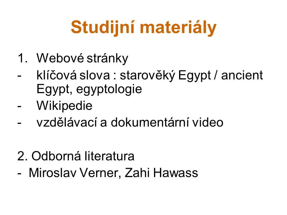 Studijní materiály Webové stránky