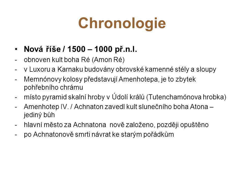 Chronologie Nová říše / 1500 – 1000 př.n.l.